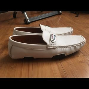 Pavini White Leather Loafers - Size 9